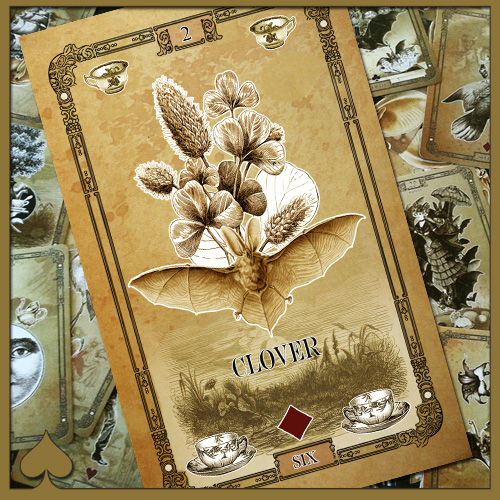 Tea Bats - Learn the Lenormand - Clover