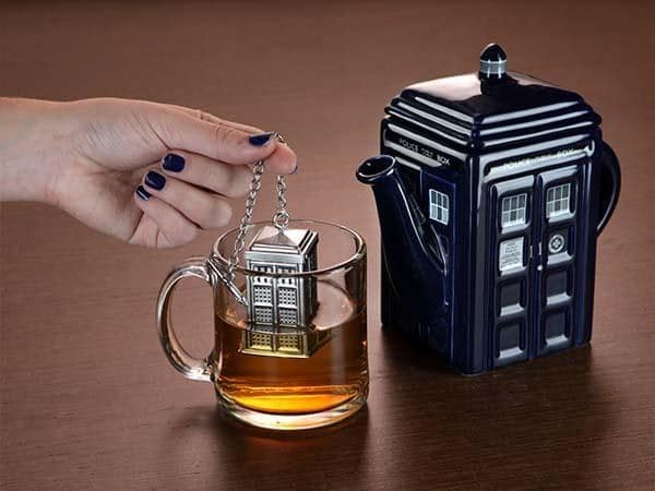 Tardis mug from ThinkGeek
